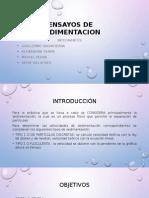 Ensayos de Sedimentacion