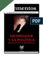 VV. AA. - Elementos N_ 25. Heidegger y La Politica. Mas Alla de La Metafisica