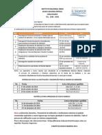 Calendarizacion Nuevo Ingreso 2015