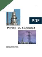 Petróleo vs Electricidad