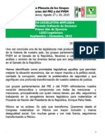 Agenda Legislativa PRI VII Plenaria Ampliada