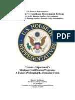 HAMP - Treasury Department's   Mortgage Modification Programs - A Failure Prolonging the Economic Crisis