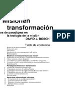 BOSCH, D, Mision en Transformacion