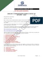 Analise Edital Aft 2013