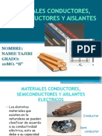 Material conductores, semiconductores