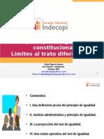 Principio de Igualdad y Limites Al Trato Diferenciado