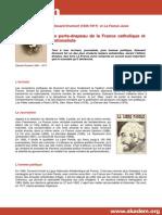 Biographie Drumont France Juive