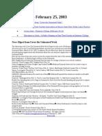 News Briefs 2003-02-25