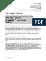 TSU Fall 2015 ENG 501-01 (Fall 2015 Online Final Version)