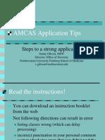 AMCAS Tips