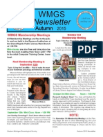 2015 Fall WMGS Newsletter