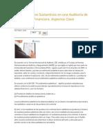 Procedimientos Sustantivos en Una Auditoría de Información Financiera