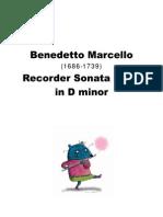 Benedetto Marcello (1686-1739) - Recorder Sonata No. 2 in D Minor