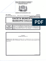 Ordenanza Actividades Economicas 2014 Chacao