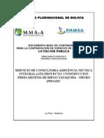 Gestion tecnica  Tayaquira-Oruro Corregido