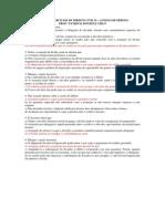 Lista de Exercícios de Direito Civil II –