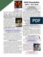 September/ October SASI Newsletter 2015 By Jewel Reavis