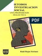 Metodos Investigacion Social Rojas Soriano