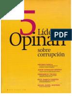 5 líderes opinan sobre la corrupción (Armando H. Toledo, et al.)