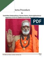 Homa Procedure