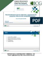Recomendaciones Para La Redaccion y Seguimiento de Proyecto de Proyectos Viales de Alta Complejidad Tecnica