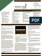 September 09 Newsletter