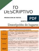 Texto Descriptivo - Producción de Textos