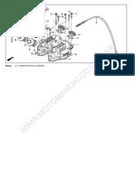 Manual partes de motor de Honda XR-250R 1986 en adelante