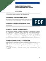Programa - Fil. Nat y Ética Ambiental. Google Drive