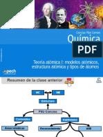 Clase 2 Teoria Atómica I Modelos Atómicos, Estructura Atómica y Tipos de Átomos 2015
