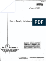 Risk vs Benefit- Conf Paper Collection • LANL 1972