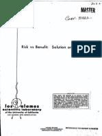 Risk vs Benefit- Conf Paper Collection • LANL 1972