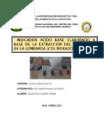 Aplicacion Del Colorante Extraido de La Col Morada