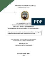 Monografia Cuatro Pasos Para Desarrollar Capacidades Matemáticas en El Sexto Grado
