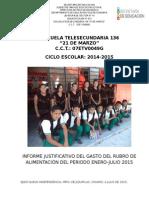 Informe Financiero Cici 2015