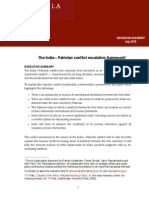 India Pakistan Conflict Escalation Framework TDD