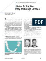Mandibular Molar Protraction with Temporary Anchorage Devices