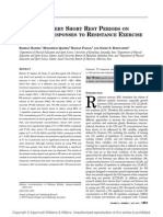 Effects of Very Short Rest Periods on Hormonal Responses to Resistance Exercise in Men