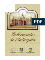 Gobernantes de Antioquia