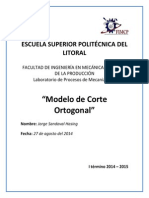 Modelo de Corte Ortogonal