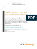 Postnatal Care Health Problems in Women and Babies in Postnatal Care