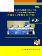 Design and Creative Ideas for No-frills Airports in Tier-II & Tier-III Cities