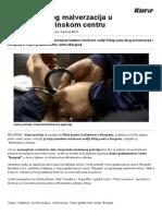 Štampanje - Hapšenje Zbog Malverzacija u Vojno-građevinskom Centru - Kurir