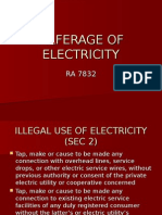 Pilferage of Electricity