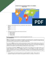 Evaluación Diagnóstica Degeografía de México y Del Mundo