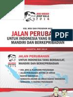 Visi Misi Jokowi-JK Dalam Pemilu 2014