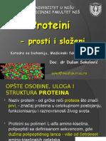 Medicinska Biohemija - Proteini