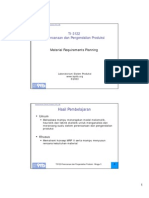 5) Material Requirements Planning (MRP)