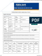 federal Bank Advertisement Form