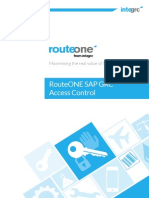 RouteONE SAP GRC Access Control June2015